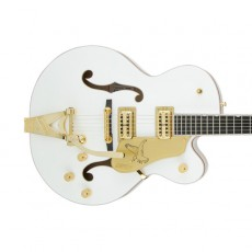Gretsch G6136T-WHT Players Edition Falcon with String-Thru Bigsby, Filter'Tron Pickups - White