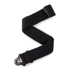 D'addario Auto Lock Guitar Strap - Black Padded Stripes