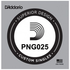 D'Addario PNG025 Pure Nickel Electric Guitar Single String, .025