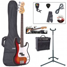 Encore EBP-E4SB E4 Bass Guitar Pack, Sunburst