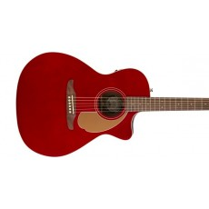 Fender Newporter Player Acoustic Guitar, Walnut Fingerboard, Candy Apple Red