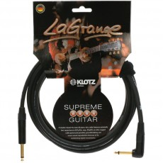 Klotz LA Grange Instrument Angled Cable  - 4.5 m Black  w/ Gold Tips