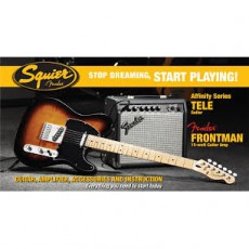 Fender Affinity Series Tele with Fender Frontman 15G Amp, Brown Sunburst
