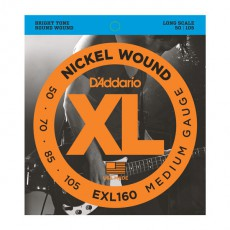 D'Addario EXL160 Nickel Wound Medium Bass Strings (.050-.105) Long Scale