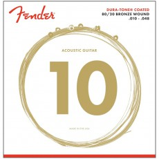 Fender 880XL 80/20 Dura-Tone Coated Extra Light Acoustic Strings (.010-.048)