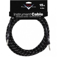 Fender Custom Shop Performance Series Cable - 15' Black Tweed