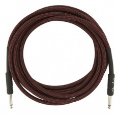 Fender 15' / 4.5m Professional Series Instrument Cable, 15', Red Tweed