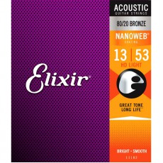 Elixir HD 80/20 Bronze Nanoweb Light 13 - 53 Acoustic Strings