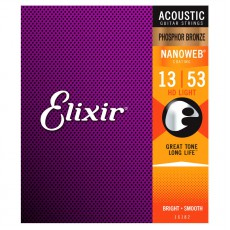 Elixir HD Phosphor Bronze Nanoweb Light 13 - 53 Acoustic Guitar
