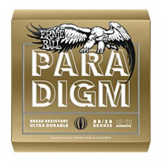 Ernie Ball 2090 Paradigm 80/20 Bronze Extra-Light Acoustic Strings (.010-.050)