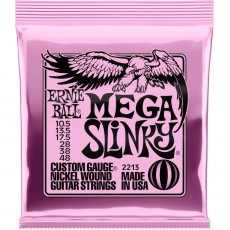 Ernie Ball 2213 Mega Slinky Electric Guitar Strings, 10.5-48