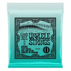 Ernie Ball 2326 Ball-End Nylon Ukulele Strings, Black, .028 Gauge