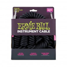 Ernie Ball 6044 Coil Cable, Straight-Straight, 30ft, Black