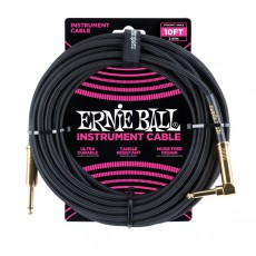 Ernie Ball 10' Braided Instrument Cable, Black