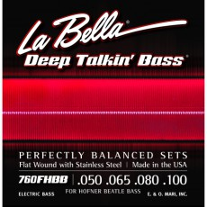 La Bella 760FHBB Deep Talkin Stainless Steel Bass Strings (.050-.100) Shortscale