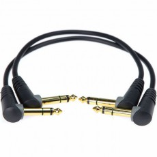 Klotz 2pcs Balanced Angled Patch Cable - 30cm Black w/Gold Contacts