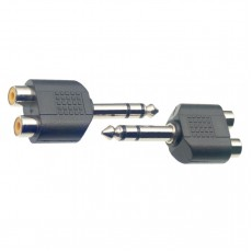 Stagg AC-2CFPMSH Audio Adapter, RCA Stereo Female to 6.3mm Stereo Jack Male, 2-Pack