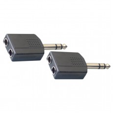 Stagg AC-PMS2PFH 6.3mm Jack Stereo Male to 2 x 6.3mm Jack Stereo Female, 2-Pack