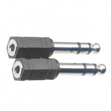 Stagg AC-PMSJFSH Stereo Jack Male to Mini Jack Female Adapter - 2-pack