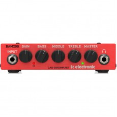 TC Electronic BAM200 Compact Class-D Bass Head, 200-Watt