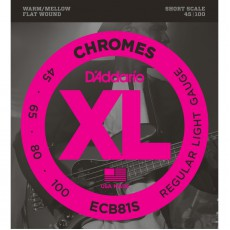D'Addario ECB81S Chromes Light Electric Bass Strings (.045-.100) Short Scale