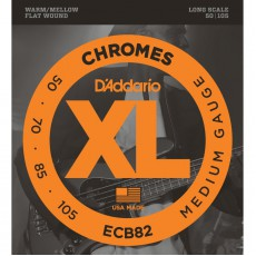 D'Addario ECB82 Chromes Medium Bass Strings (.050-.105) Long Scale