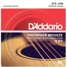 D'Addario EJ17 Phosphor Bronze Medium Acoustic Strings (.013-.056)