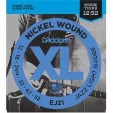 D'Addario EJ21 Nickel Wound Jazz Light Electric Strings (.012-.052)
