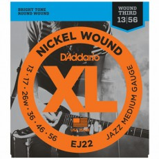 D'Addario EJ22 Nickel Wound Jazz Medium Electric Strings (.013-.056)