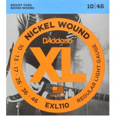 D'Addario EXL110 Nickel Wound Regular Light Electric Strings (.010-.046)