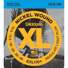 D'Addario EXL110+ Nickel Wound Regular Light Plus Electric Strings (10.5-48)