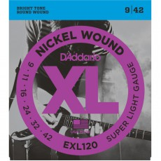 D'Addario EXL120 Nickel Wound Super Light Electric Strings (.009-.042)