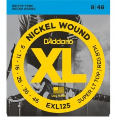 D'Addario EXL125 Nickel Wound Super Light Top Regular Bottom Electric Strings (.009-.046)