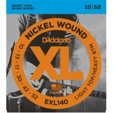 D'Addario EXL140 Nickel Wound Light Top Heavy Bottom Electric Strings (.010-.052)