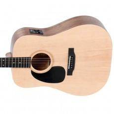Sigma DMEL+ Left Handed Semi Acoustic Dreadnought Guitar - Natural