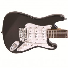 Encore E375 3/4 Size Electric Guitar, Gloss Black