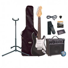Encore EBP-E375BLK Mini Electric Guitar Pack, Black