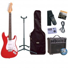Encore E6 Electric Guitar Pack, Red