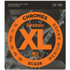 D'Addario ECG26 XL Chromes Flat Wound - Medium (.013-.056)