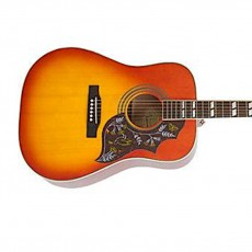 Epiphone Hummingbird Pro Semi-Acoustic Guitar, Faded Cherry Sunburst