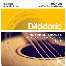 D'Addario EJ19 Phosphor Bronze Acoustic Guitar Strings (.012-.056) - Bluegrass