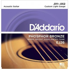 D'Addario EJ26 Phosphor Bronze Custom Light Acoustic Strings (.011-.052)