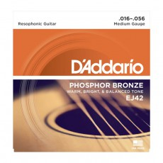 D'Addario EJ42 Resophonic Guitar Strings (.016-.056)