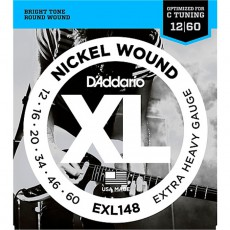D'Addario EXL148 Nickel Wound Electric Strings (.012-.060) - Extra-Heavy