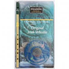 Feadog Brass D Whistle Book & CD Pack