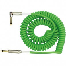 Kirlin Premium Coil Angled Instrument Cable - 30 'Green