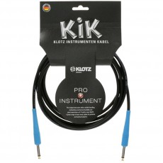 Klotz KIK Instrument Cable - 3m Black w/Gold Tip and Blue Sleeves
