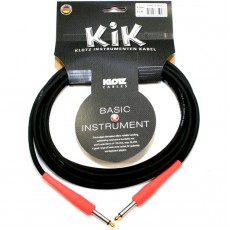Klotz KIK Instrument Cable - 4.5mm Black w/Gold Tip and Red Sleeves