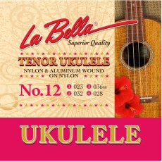 La Bella 12 Aluminum Ukulele Strings (.023-.028) Tenor