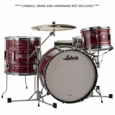 Ludwig Club Date Shell Pack  3 Piece - Ruby Strata